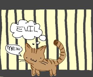 cute but evil kitten goes to prison