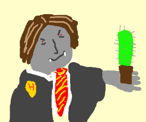 Hogwarts vampire wants to give you his cactus