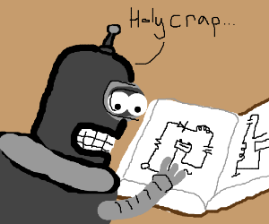 Bender from futurama learns about electricity.