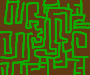 Maze spells out hello