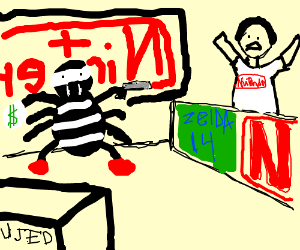 Nintendo store robbed by man spider