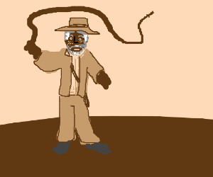 Morgan Freeman as Indiana Jones