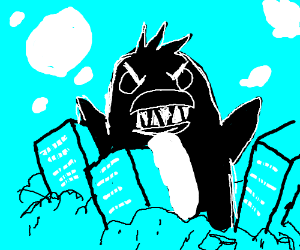 Draw an angry penguin, or SKIP THIS GAME
