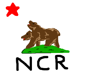 New California Republic Flag Drawing By Scorpio