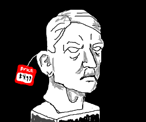 Bust of Hitlers face going for about 5 dollars