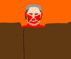 George Bush Jr. as Colossal Titan in AoT Movie