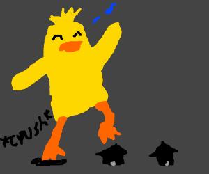 Ducky Momo destroys town