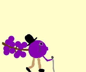 sir purple grape is fancy