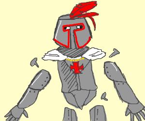 knight's limbs detach due to loose screws