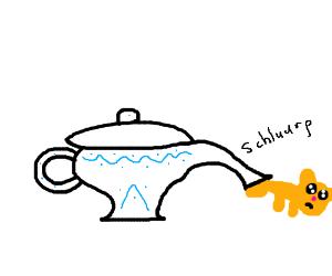 A kitten-eating teapot