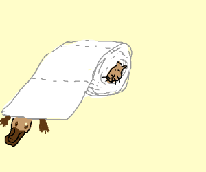 Platypus-Dog Toilet Paper (may contain cat)