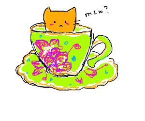 A vintage cup of cat juice