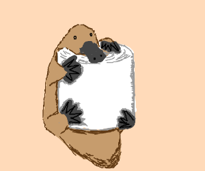 toilet paper roll - now with more platypus!
