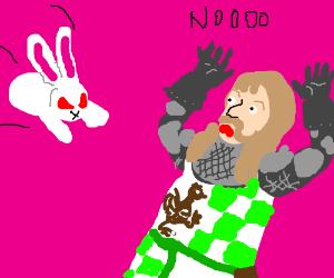 Brave Sir Robin and the rabbit of Caerbannog