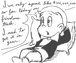 Richie Rich needs to stop being so lazy