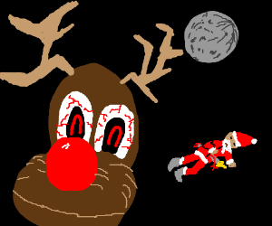 rudolph the rendeer is a murderrer at midnight
