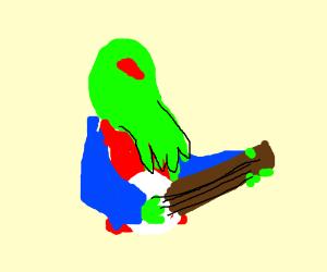 Ctulhu plays on banjo