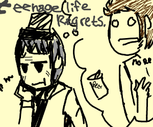 old man regretting his teenage life