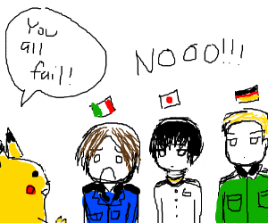 Pikachu in Hetalia fails all his students