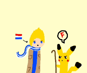 Pikachu not aloowing dutch students to pass