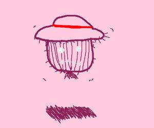 floating scarecrow head