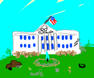 The White House is in a state of disrepair