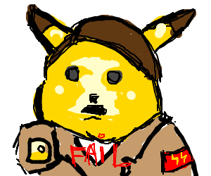 Pikachu tells the Axis Powers they have failed