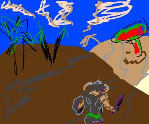Dovahkin journeys to Morrowind