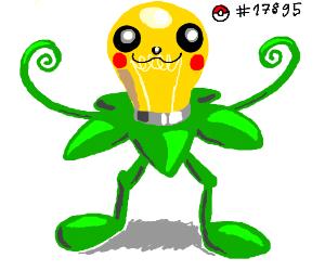 That happy plant pokemon with lightbulb head
