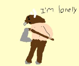 Minotaur is feeling lonesome.