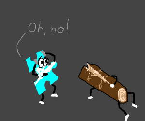 Puzzle Piece finds a murdered Log.