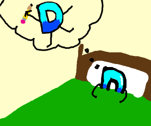 Drawception having a dream about himself