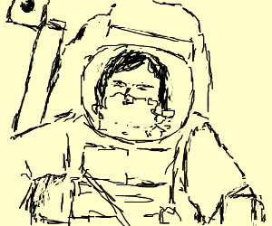 Astronaut Han Solo puke in his helmet