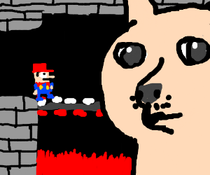 Super Mario's Bros. first boss is...Doge?