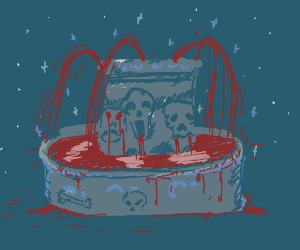 Oh that?That's my cosmic horror blood fountain