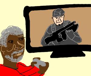 Morgan Freeman plays Gears of War