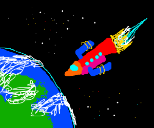 Rocket to another world.