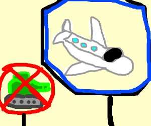 No tanks, only planes.
