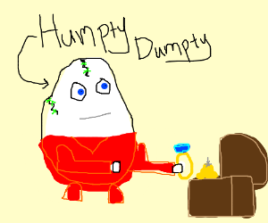 Humpty dumpty found the ring in the treasure!