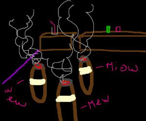 Three cigars walk into a BARn...meowing?