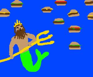 Poseidon, king of the hamburger sea