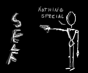"""...points gun at self...says """"nothing special"""""""