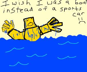 Transformers can't swim :(