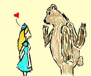 Alice in wonderland loves a three armed bear