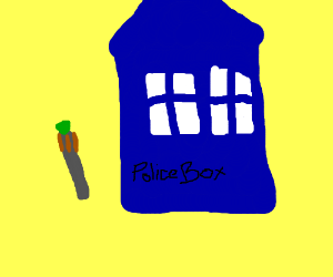 The TARDIS and sonic screwdriver