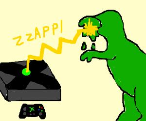Xbox One shoots face-melting ray at dinosaur!
