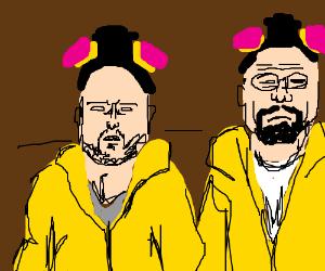 Walter making meth with sir Pinkman
