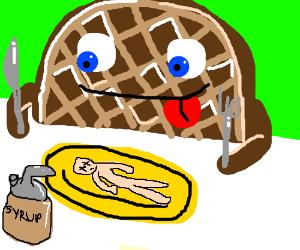 Waffle eats humans instead