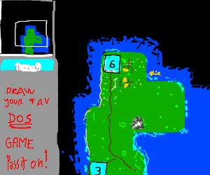 Draw your favourite MS-DOS game! P.I.O