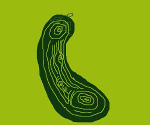 Eggplant shaped contour map